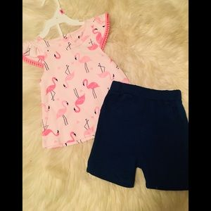 ADORABLE 2pc Flamago Outfit 12 Month